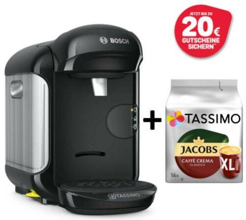 Tassimo Vivy 2 + 20€ Tassimo Gutschein + Caffè Crema Classico XL für 29€