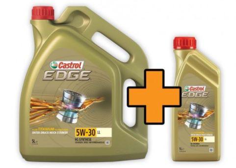 6 Liter Castrol EDGE Titanium FST 5W 30 LL Motoröl für 39,99€ (statt 53€)