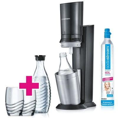 Sodastream B Waren Aktion   z.B. Crystal 2.0 mit 2 Karaffen + 2 Gläsern für 74,99€ (statt 95€)