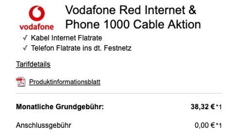 Vodafone CableMax Gigabit für 38,32€ mtl. + Nintendo Switch für 25€