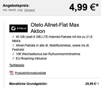 OnePlus 8T mit 128GB für 4,99€ + gratis Bumper Case + Vodafone Flat mit 40GB LTE für 29,99€mtl.
