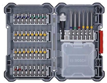Bosch Kit GSB 18V 21 Akku Schlagbohrschrauber mit 2x 2,0 Ah + L Boxx + 40 tlg. Zubehörset für 149,36€ (statt 205€)