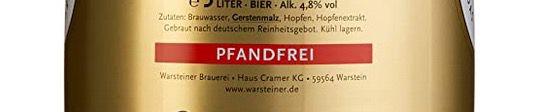 5 Liter Warsteiner Pils Fass ab 6,29€   Sparabo