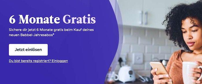 Babbel (Sprachen lernen) 12 Monate für 47,97€ (statt 71,88€)