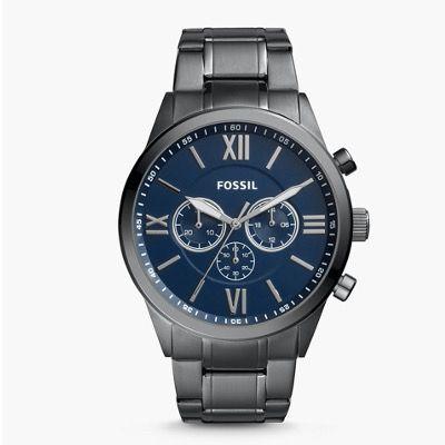 Fossil Flynn Herren Armbanduhr in Edelstahl Rauchgrau ab 46,92€ (statt 127€)