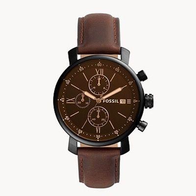 Fossil Rhett Chronograph mit braunem Leder Armband für 63,60€ (statt 111€)