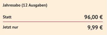 Tauchen Jahresabo mit 12 Ausgaben für direkt reduzierte 9,99€ (statt 96€)
