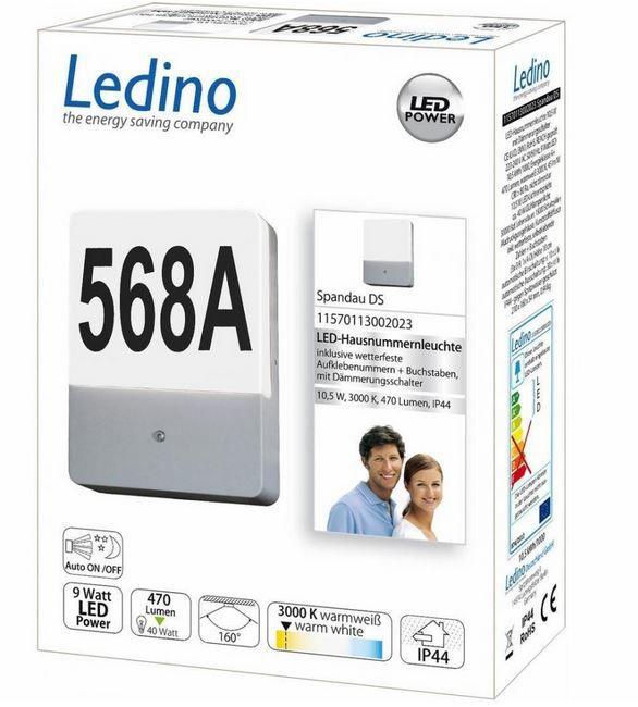 Ledino Spandau LED Hausnummernleuchte für 19,99€ (statt 39€)