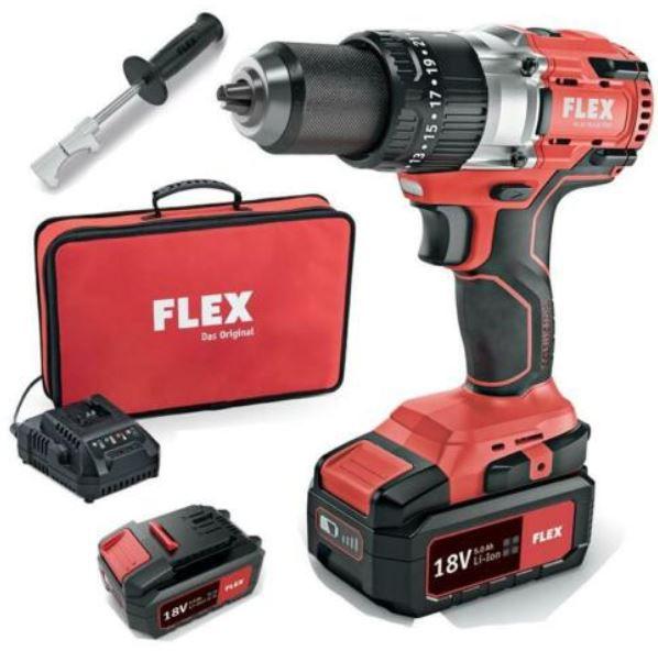 Flex Tools PD 2G 18.0 EC Akku Schlagbohrschrauber + 2 Akkus 5Ah + Tasche für 179,95€ (statt 224€)
