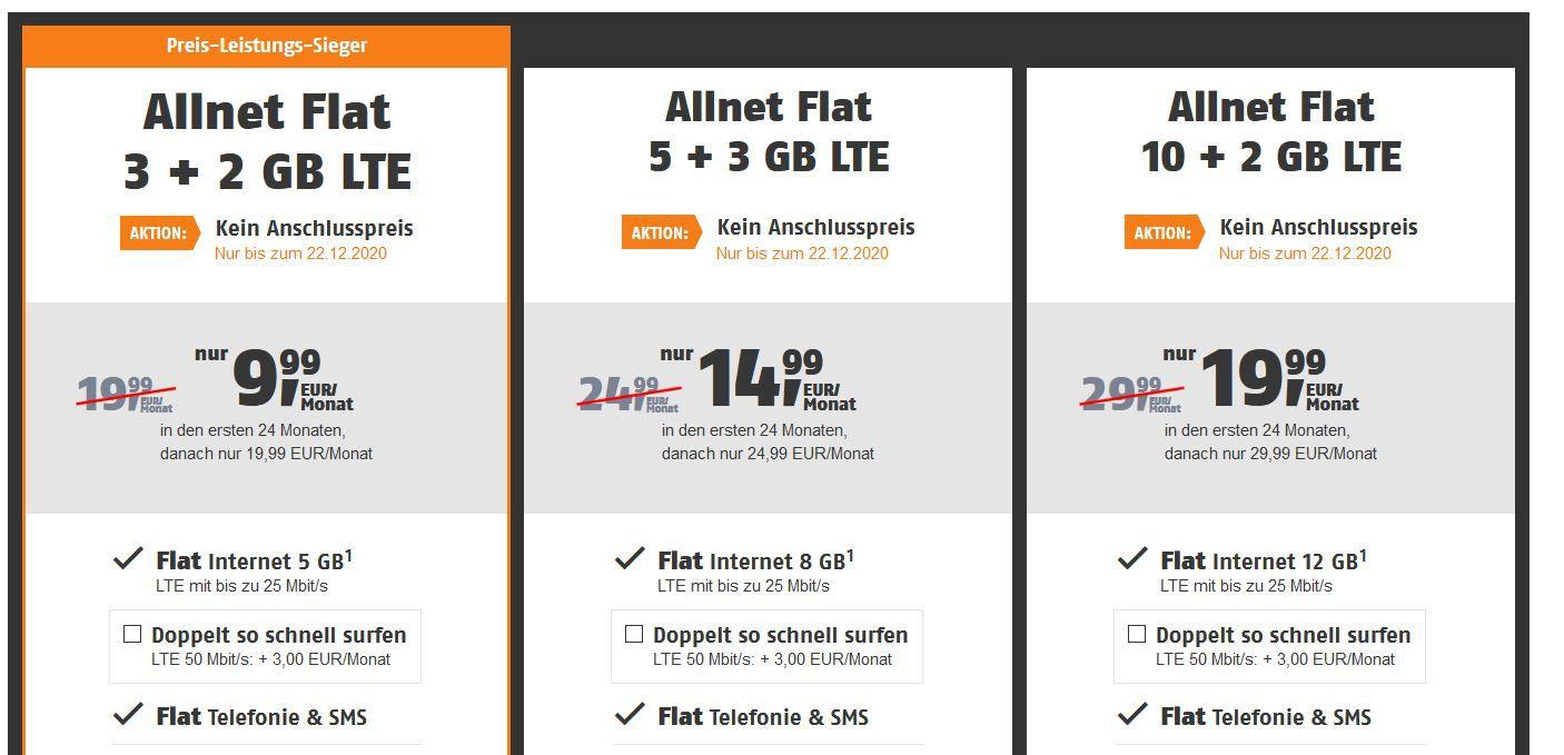Hammer! Telekom AllNet & SMS Flat von klarmobil + 5GB LTE für 9,99€   oder 8GB für 14,99€