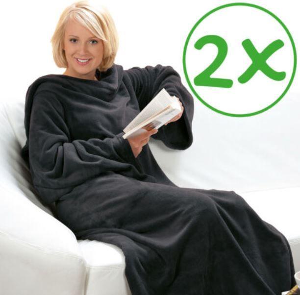 DILUMA Doppelpack Kuscheldecken mit Ärmeln für 29,71€ (statt 39€)