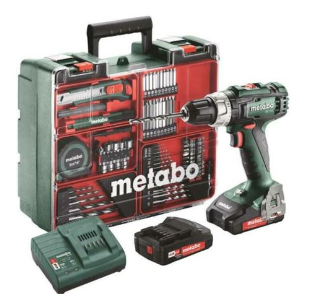 Metabo  BS 18L Akku Bohrschrauber Set 18V inkl. 2 x 2,0Ah Akkus + Zubehör Koffer für 134,91€ (statt 165€)