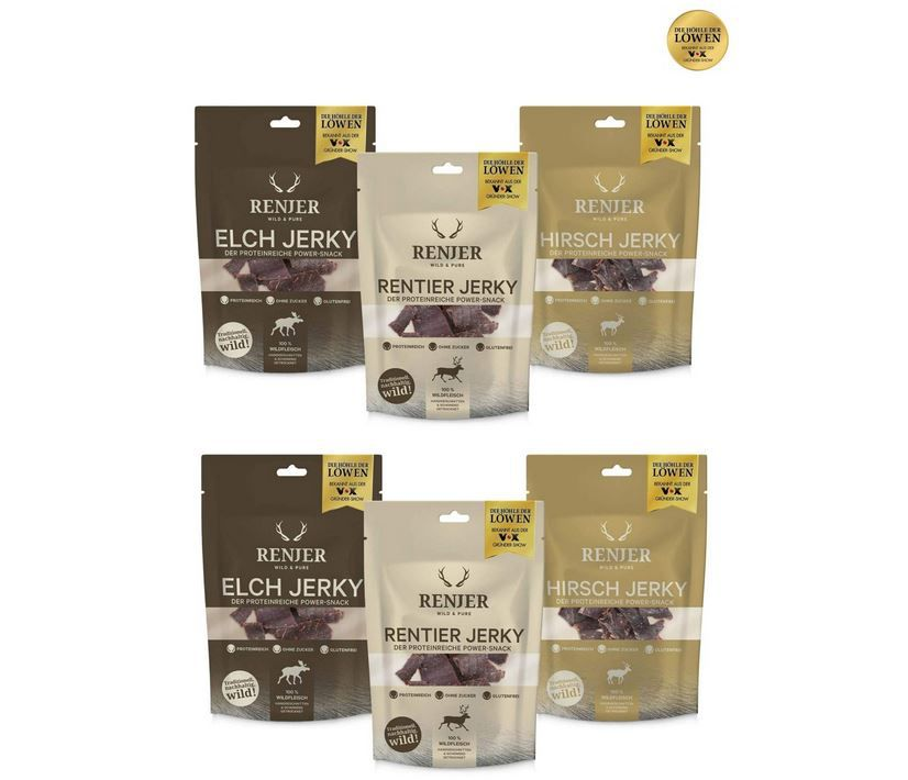 6er Pack (2x 3 tlg. )Renjer Trockenfleisch Try Me Set für 10,89€ (statt 15€) aus DHdL