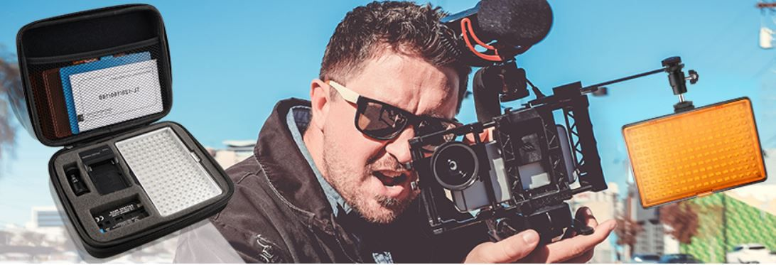 SAMTIAN Videoleuchte für viele Kameras und DSL für 24,99€ (statt 50€)
