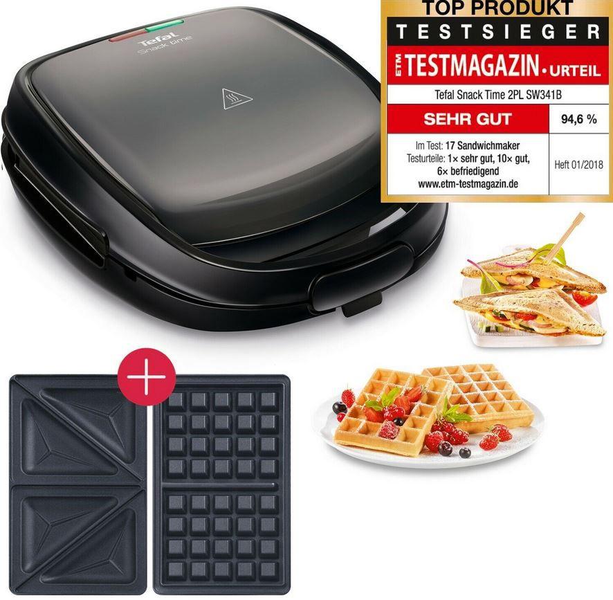 Tefal Snack Time SW341B Waffel und Sandwich Toaster für 44,99€ (statt 57€)