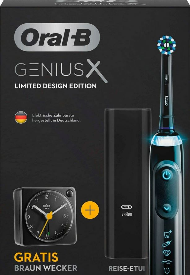 Oral B Genius X Limited Design Edition eZahnbürste + Reisewecker für 109,90€ (statt 125€)