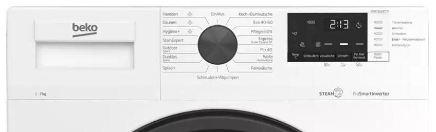 BEKO Waschmaschine (7 kg, 1600 U/Min., A+++) für 318,90€ (statt 380€)