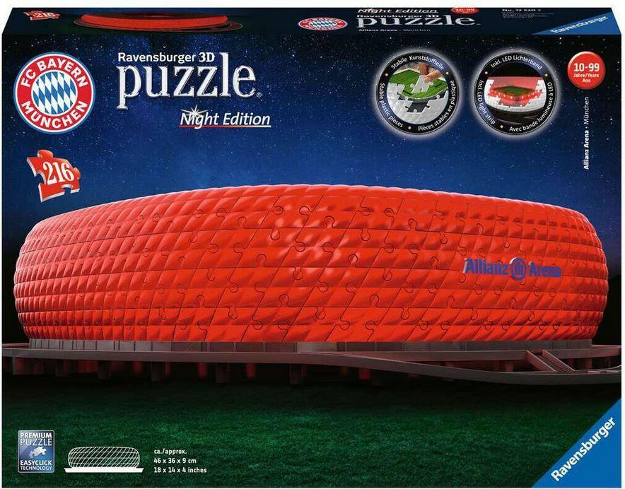 Ravensburger 3D Puzzle FC Bayern Allianz Arena bei Nacht für 36,99€ (statt 44€)