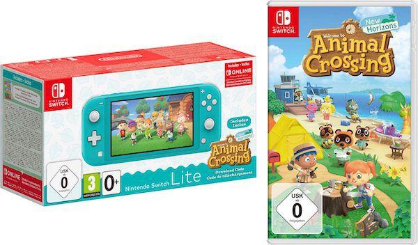 Nintendo Switch Lite inkl. Animal Crossing + 3 Monate Switch Online für 189,83€(statt 250€)