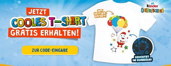 Gratis: T Shirt Aktion mit Kinderüberraschung