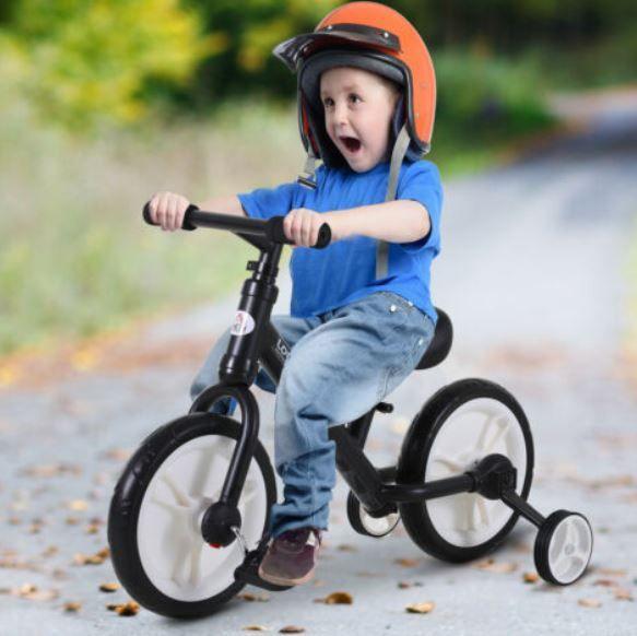 HOMCOM Dex Kinderlauf  und Lernfahrrad mit Stützrädern für 21,21€ (statt 35€)