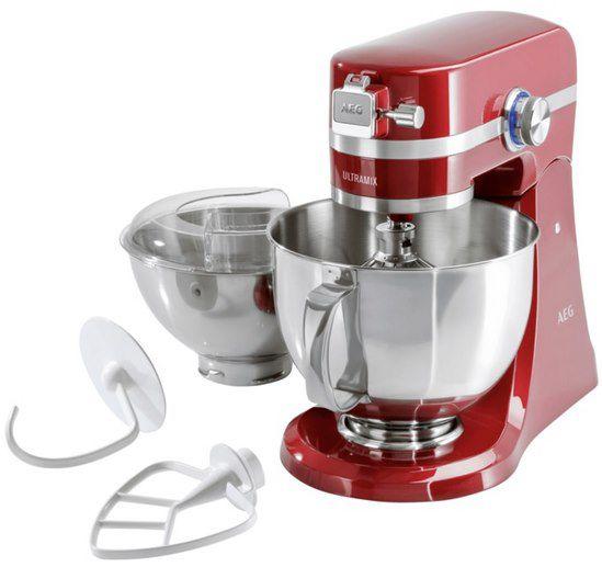 AEG KM54WR UltraMix Küchenmaschine mit 4,8 Liter Schüssel + Zubehör für 199,99€ (statt 248€)