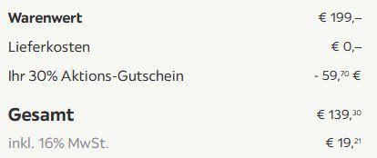 Retro Zweisitzer Sofa Anela mit Holzfüßen in Grau ab 139,33€ (statt 199€)