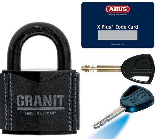 ABUS 37/55 Leder Vorhängeschloss inkl. 2 Schlüssel & Karte als Limited Edition für 35,10€ (statt 60€)