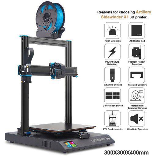 Artillery Sidewinder X1 V4   3D Drucker mit Direct Drive Extruder für 316,99€ (statt 390€)   aus PL