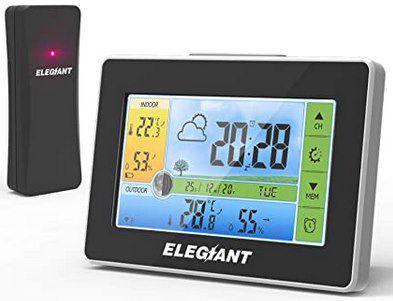 Elegiant EOX 9908 digitale Wetterstation mit Außensensor & Farbdisplay für 23,99€ (statt 30€)