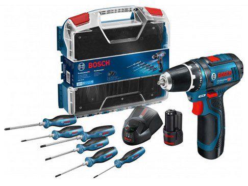 Bosch Professional GSR 12 V 15 Akku Bohrschrauber inkl. Zubehör, 2 Akkus & Koffer für 99,95€ (statt 122€)