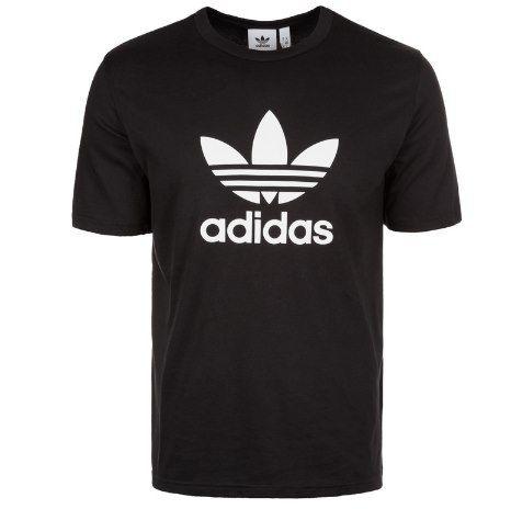 adidas Originals T Shirt mit Trefoil in Schwarz für 12,45€ (statt 18€)   XS bis L