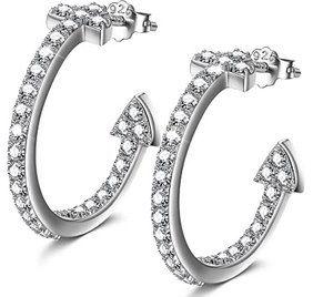 NINAMISS Damen Ohrringe aus 925er Silber mit Zirkonia für 12,99€ (statt 24€)   Prime