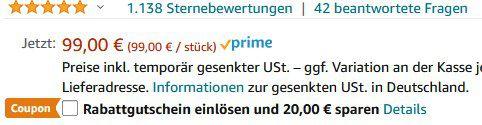 Bstboo Massagepistole mit 4 Stufen & 6 Aufsätze für 68,11€ (statt 98€)