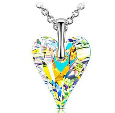 Sellot Halskette aus 925er Sterling Silber mit Kristall von Swarovski für 11,99€ (statt 28€)