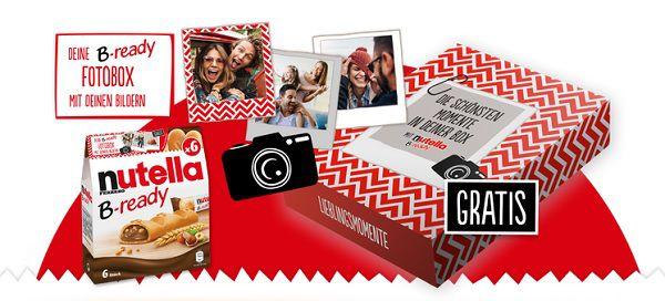 Nutella B ready Fotobox gratis sichern