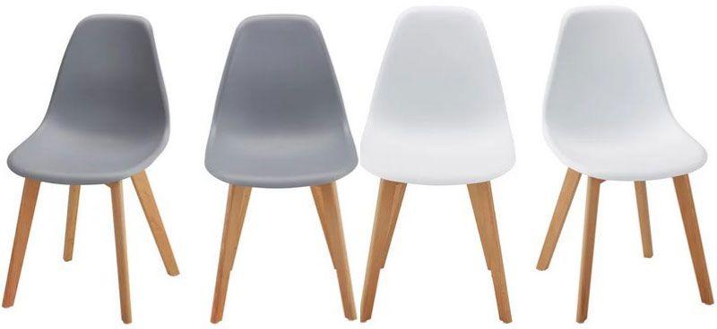4er Pack Stuhl Frieda in Grau oder Weiß für 75,67€ (statt 120€)