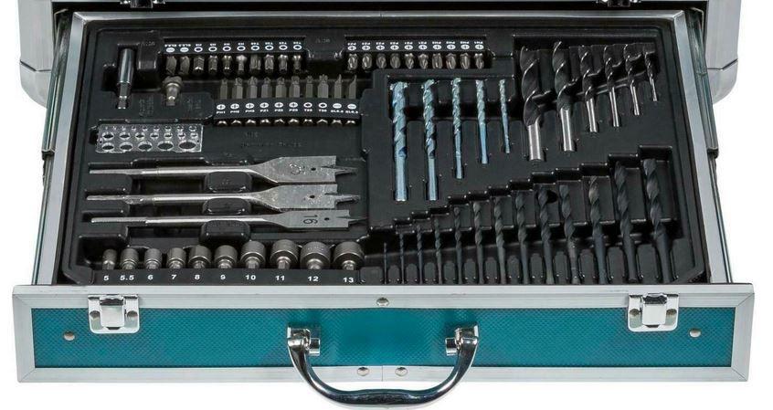 Makita HP457DWEX4 Akku Schlagschrauber mit 2 Akkus, Koffer, 70 Teile Zubehör für 189,95€ (statt 208€)