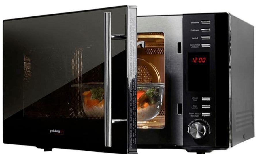 Privileg AC925EBL Edition 50   25l Mikrowelle mit Grill u. Heißluft für 83,65€ (statt 136€)