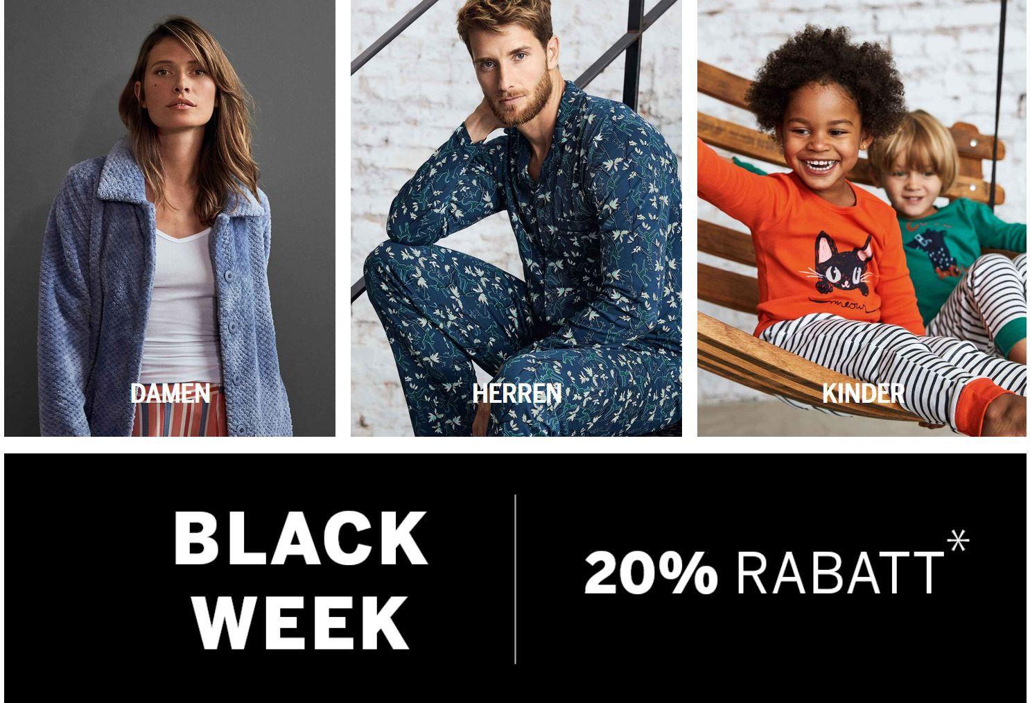 Schiesser Black Week: bis 70% im Sale + 20% extra Rabatt auf alles auch im Sale ab 40€