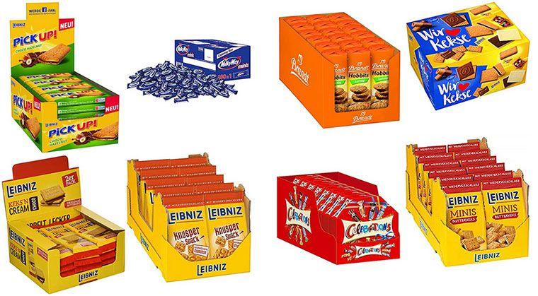 Süßwaren & Kekse im Vorteilspack bei Amazon z.B. Bounty, Pick Up & Leibniz Kekse