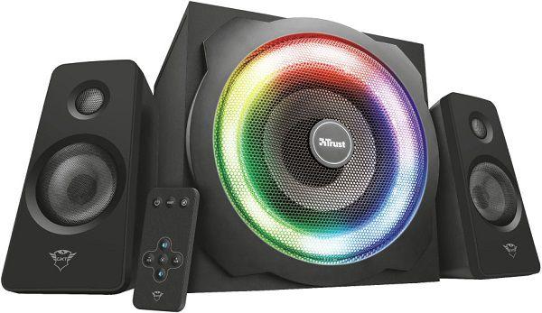 Pricedrop: Trust GXT 629 Tytan 2.1 RGB Lautsprecherset für 62,99€ (statt 71€)