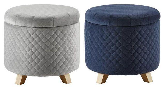 Sitzhocker Joris mit Stauraum in 2 Farben für je 20,93€ (statt 44€)