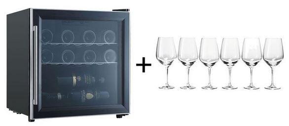 respekta WKS14 Weinkühlschrank + ERNESTO Gläser aus Kristallglas für 134,83€ (statt 201€)