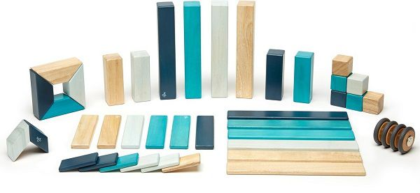 Tegu magnetisches Holzbausteine   42 Stück für 39,99€ (statt 100€)   gebraucht wie neu!