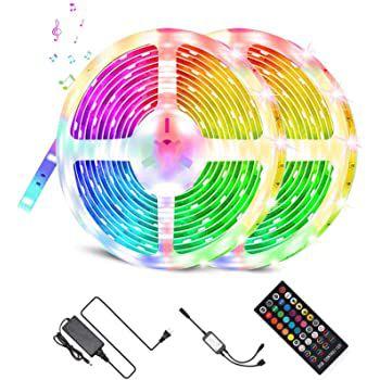 Fylina 2x5m LED RGB Streifen mit Fernbedienung für 13,20€ (statt 33€)