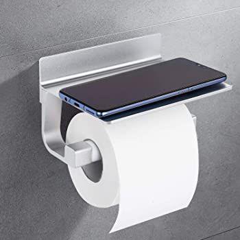 Dalmo DBPH01SR Toilettenpapierhalter mit Ablage für 7,99€   Prime