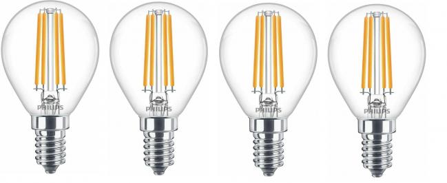4er Pack Philips E14 LED 6,5W Leuchtmittel für 9,99€ (statt 28€)