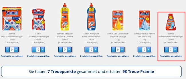 8er Pack Somat Intensiv Maschinenreiniger ab 8,32€
