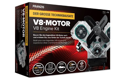 Franzis V8 Motor der große Technikbausatz für 50,96€ (statt 109€)